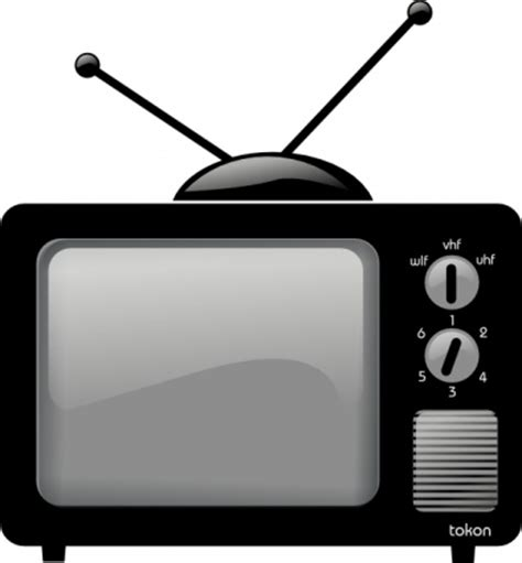 tv pictures television cartoon black and white clip art library