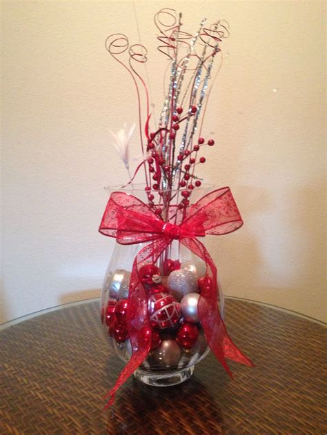 christmas centerpiece crafts ideas for weddings pinterest