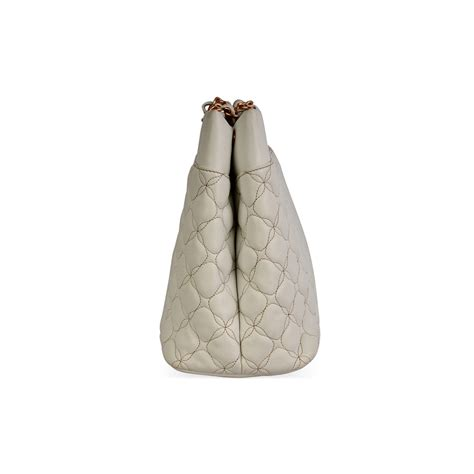 chopard quilted calfskin leather tote white luxity