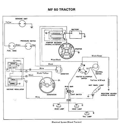 mf35 diesel deluxe wiring diagram yesterday s tractors