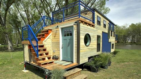Home Design For Making Home | tiny home custom triple axle trailer split balcony small