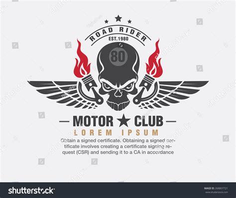 Design Id Card Club Motor | motor logo graphic design logo sticker label arm stock