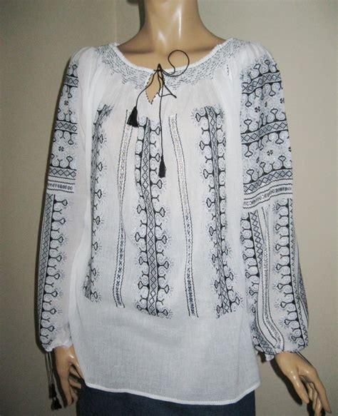 12178 Blouse Include Cuff White Gray Black Size Fit To L 3 blouse black gray embroidery helsing blouse greatblouses