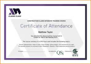 certificate of attendance template sle certificate of attendance pictures to pin on