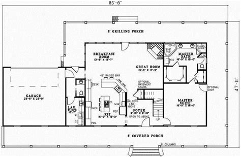 no formal dining room house plans country style house plans 2851 square foot home 2 story 3 bedroom and 2 bath 2