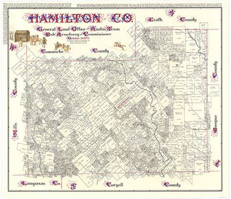 hamilton county texas map hamilton county legacy of texas