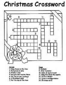 christmas crossword coloring page crayola com