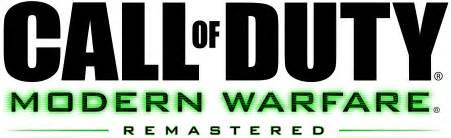 Video game news call of duty modern warfare remastered logo