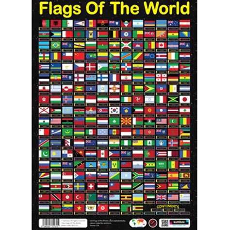flags of the world poster sumbox flags of the world educational geography poster 230