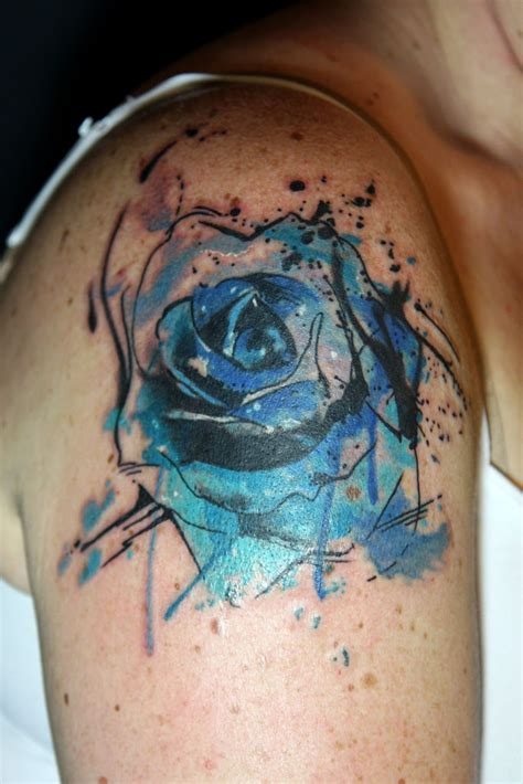 abstract rose tattoo abstract watercolor blue deanna wardin flickr