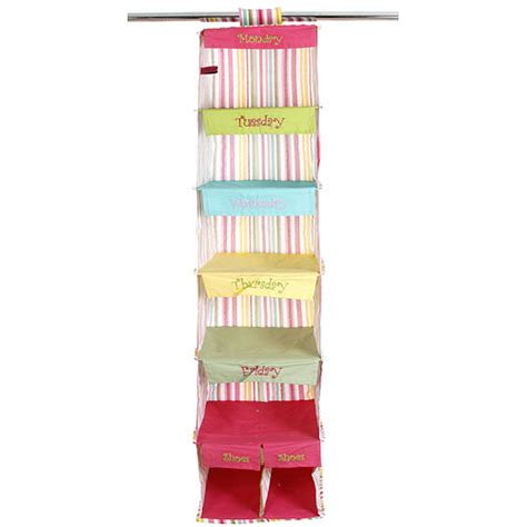days of the week closet organizer stripe in
