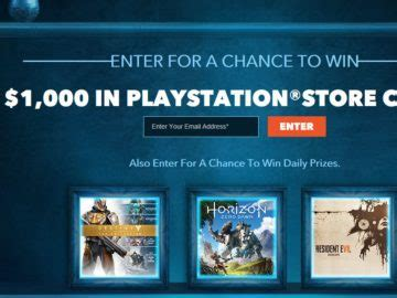 Playstation Sweepstakes - video game sweepstakes