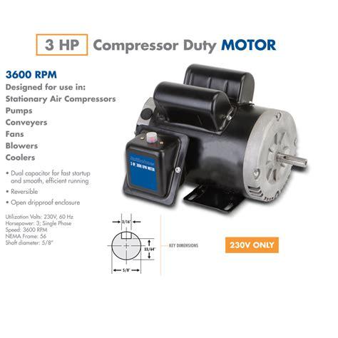 hp compressor duty motor