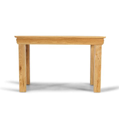 Small Solid Wood Dining Table Rustic Oak Solid Wood Small Fixed Dining Table