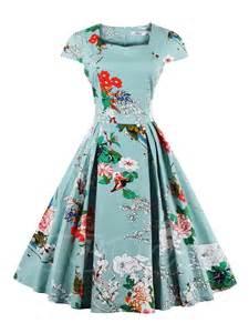 Mail Order Wedding Flowers - cap sleeve printed women s vintage dress plus size available tbdress com