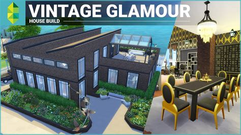 Custom Home Building Plans the sims 4 house building vintage glamour stuff factory