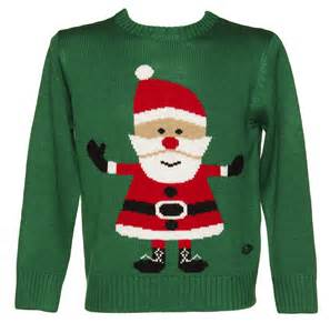 unisex father christmas jumper from crazy granny clothing