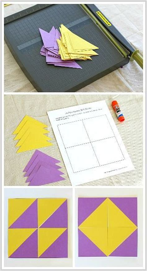 geometric quilt patterns printable geometry for kids quilt activity using triangles free