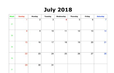 printable july 2018 calendar july 2018 calendar to print printable templates letter