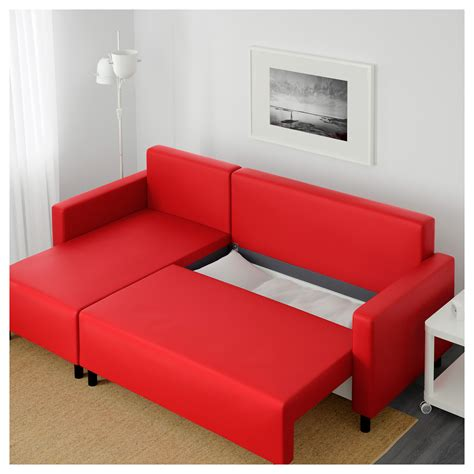 ikea lugnvik sofa bed lugnvik sofa bed with chaise longue tall 229 sen red ikea