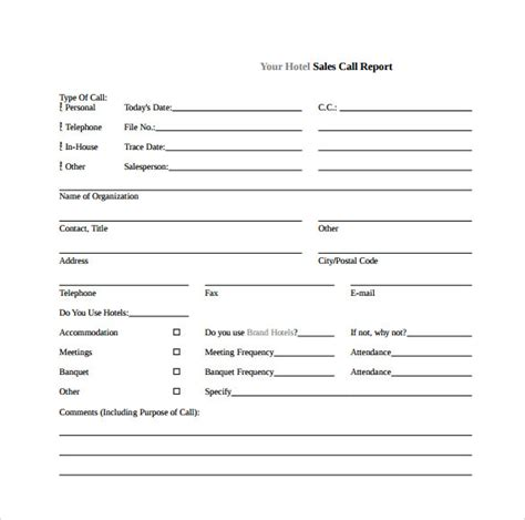 call to template sle sales call report template 7 free documents in