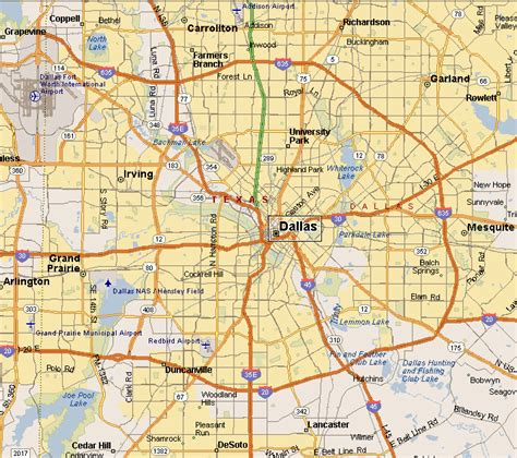 map of dallas and suburbs prairies lakes region dallas map