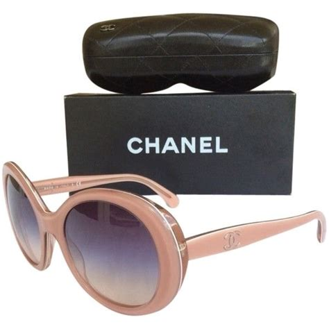 Chanel Wedges Yc B616 264 pre owned light pink ombr chanel sunglasses featuring