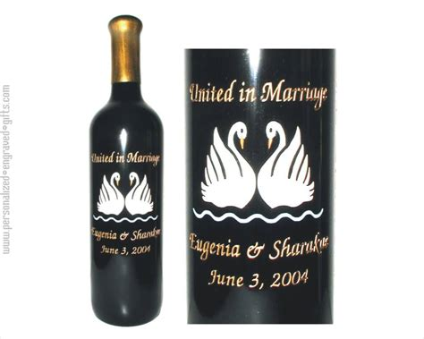 chagne bottle wedding gifts personalized wine bottles gift ftempo