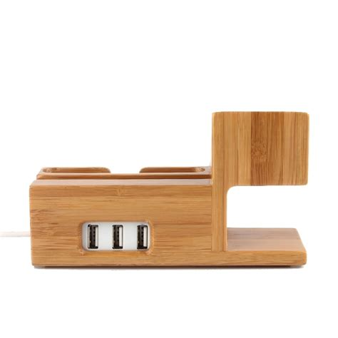 iphone desk stand charger bamboo wooden desk stand usb charger apple watch iphone
