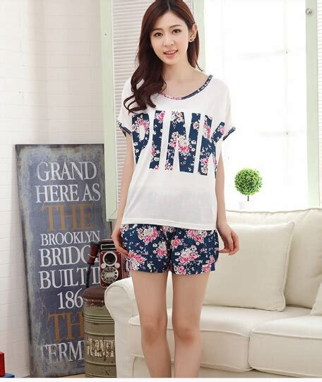 Original Hm Soft Lace Sleepwear femmes 233 t 233 pyjama 224 manches courtes shorts pyjamas accueil