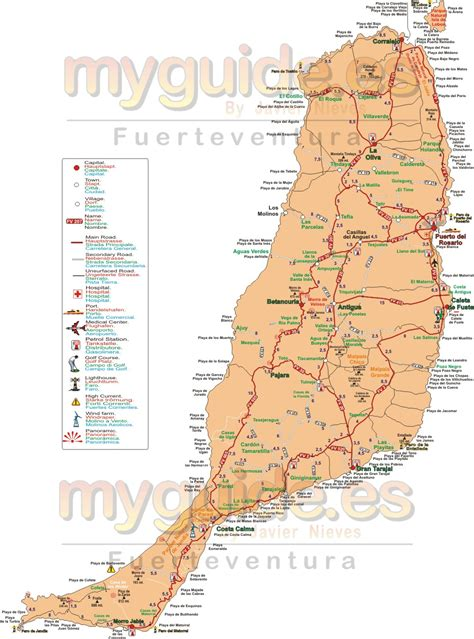 printable road map fuerteventura fuerteventura map google map download free map with