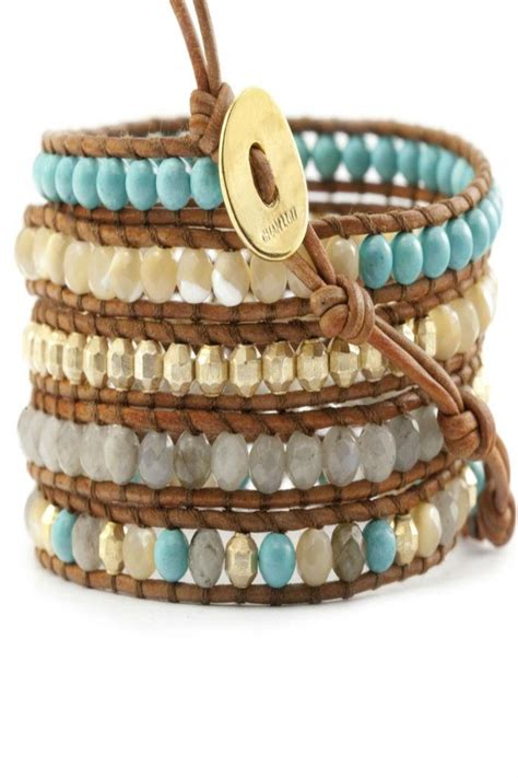 Mix Turquoise chan luu turquoise mix wrap bracelet from alexandria by