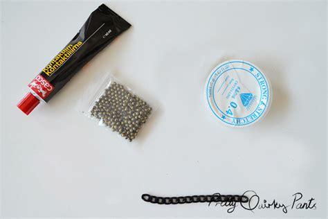 pretty quirky pants diy chain bead elastic bracelet