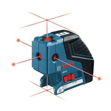 bosch 5 beam point and line laser level gpl5c the home depot