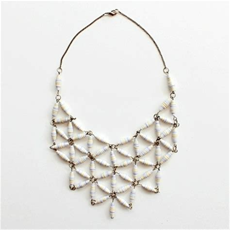 Paper Craft Jewellery - make a gorgeous designer style geo necklace with paper