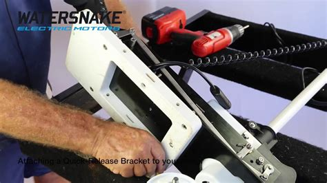 watersnakehow  attach  electric motor quick release