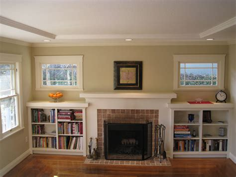 Built In Shelves Around Fireplace by I Married A Tree Hugger Our Updated Craftsman Style