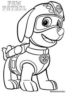 zuma paw patrol free colouring pages