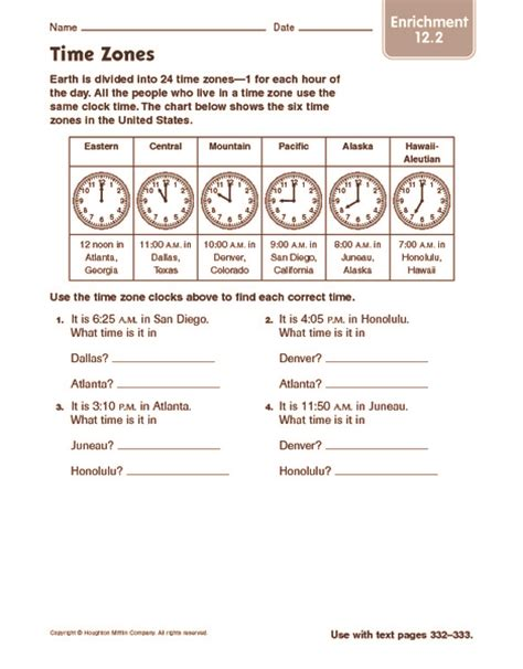 4th grade math enrichment worksheets enrichment worksheets worksheets