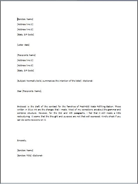 sample transmittal letter template formal word templates