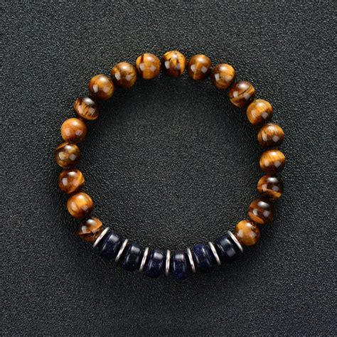 Ap0131 Blue Tiger Eye Bracelet 8mm bracelet 8mm tiger eye with blue sand stretch bracelet for european beaded mens