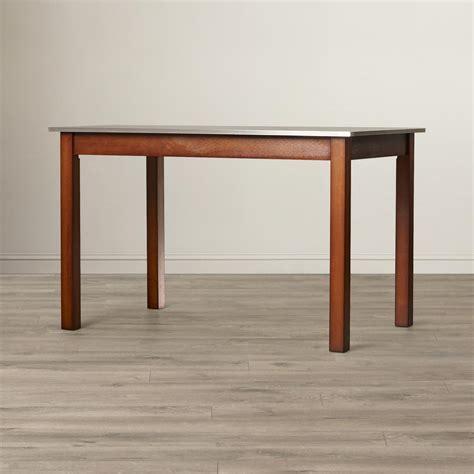 carolina cottage dining table carolina cottage chestnut brown stainless steel top