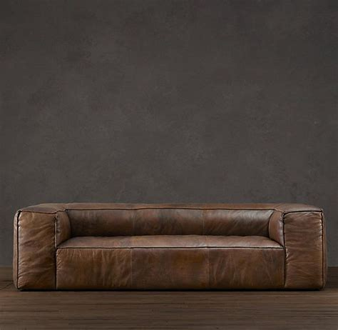 fulham leather sofa for sale restoration hardware leather sofa smalltowndjs com