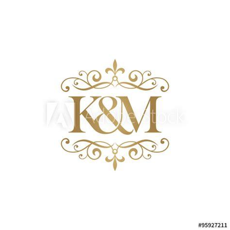 M A K k m initial logo ornament ersand monogram golden logo