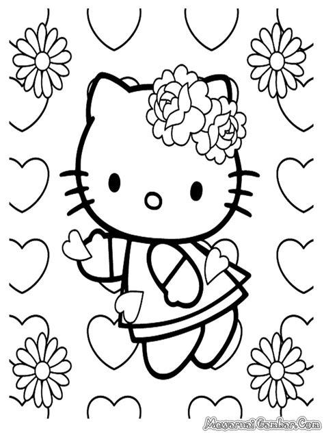 mewarna gambar hello kitty coloring pages mewarna gambar gambar untuk mewarnai