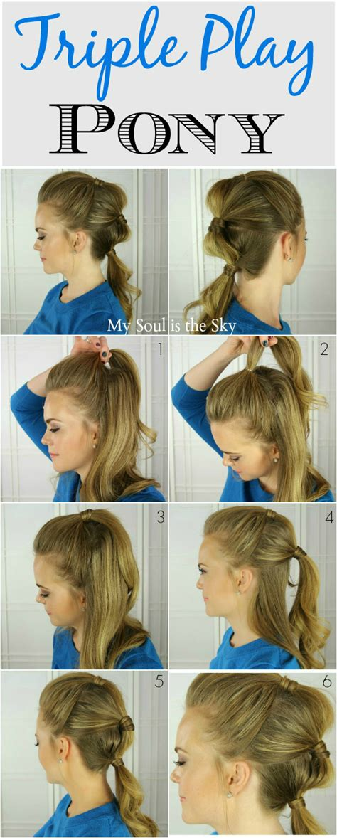 super easy step by step hairstyle ideas fashionsy com 12 super easy ponytail hairstyles fashionsy com