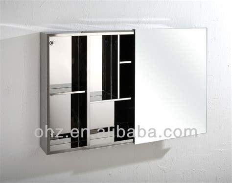 sliding mirror cabinet bathroom new design stainless steel sliding door bathroom mirror