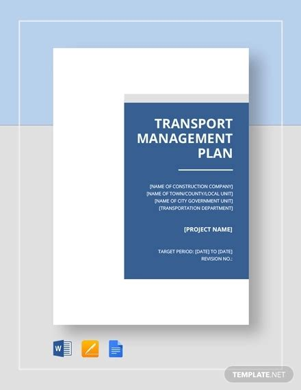 transport management plan template 42 management plan templates pdf word free premium