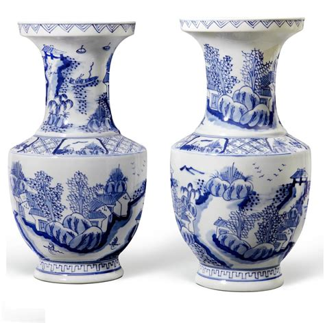 blue and white vases blue white vases blue white vase