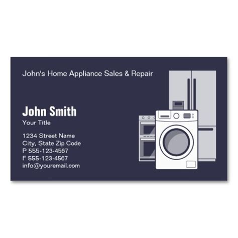home repair business card templates custom home appliances business card templates